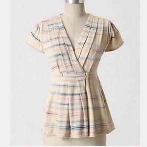 Anthropologie MOTH Coulis Stripe Wrap Cardigan XS